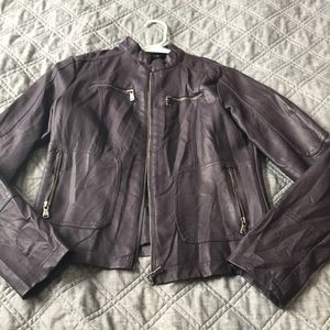 Crazy Plum Pleather Jacket